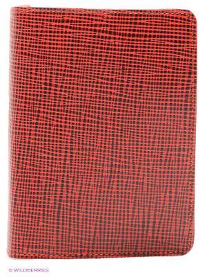 Обложка для паспорта D'Angeny. Цвет: красный, черный