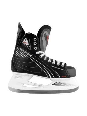Коньки хоккейные СК Спортивная Коллекция. Цвет: черный