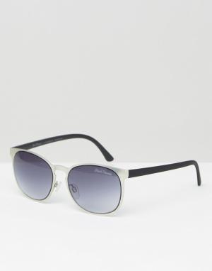 Black Phoenix Круглые солнцезащитные очки в оправе платинового цвета. Цвет: белый