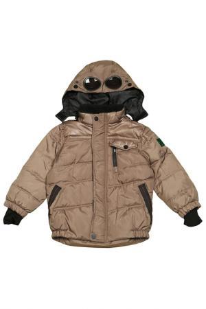 Куртка с застежкой на молнию и липучки Versace 19.69. Цвет: коричневый