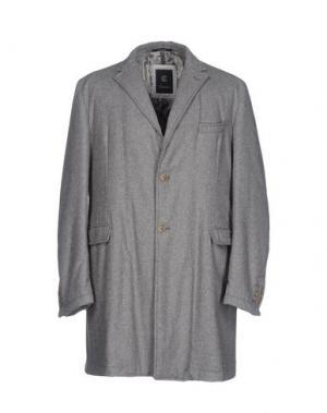 Пальто CALVARESI. Цвет: серый