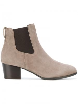 Ботинки челси на каблуке Hogan. Цвет: коричневый
