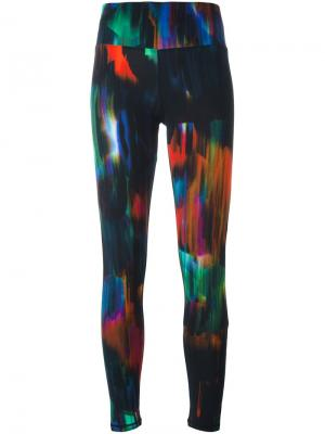 Леггинсы с абстрактным принтом Y-3. Цвет: многоцветный