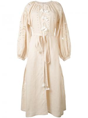 Платье с вышивкой Vita Kin. Цвет: телесный