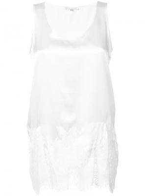 Lace trim vest Gold Hawk. Цвет: белый