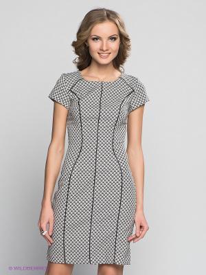 Платье Capriz. Цвет: светло-серый, черный
