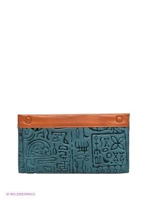 Кошелек Piero. Цвет: синий, коричневый