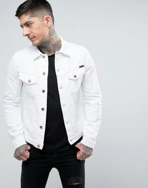 Nudie Jeans Джинсовая куртка Co Billy. Цвет: белый
