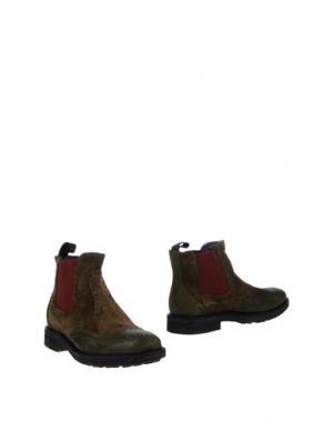Полусапоги и высокие ботинки SNOBS®. Цвет: зеленый-милитари