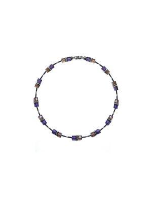 Колье Nikolskaya. Цвет: фиолетовый, коричневый