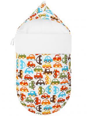 Конверт для новорождённого Берегись автомобиля! (зимний) MIKKIMAMA. Цвет: белый, зеленый, коричневый, голубой, красный, оранжевый