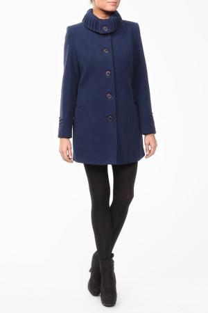Пальто World Style. Цвет: синий