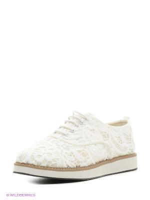 Ботинки Oodji. Цвет: белый