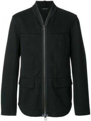 Куртка на молнии Helmut Lang. Цвет: чёрный