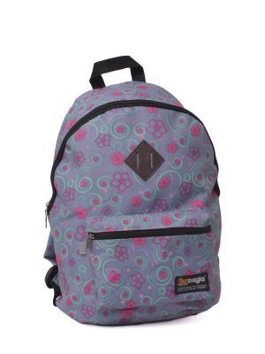 Ранец ученический  для средних и старших классов 453233 CAGIA. Цвет: серый, бледно-розовый