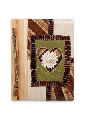 Блокнот Любви прекрасные моменты бол. (о.Бали) Decor & gift. Цвет: коричневый, зеленый