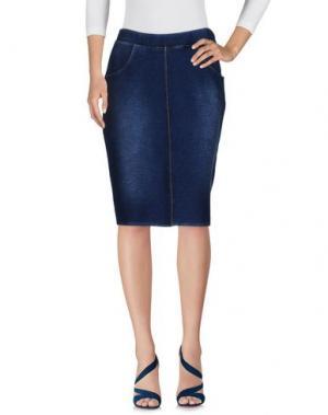 Джинсовая юбка ED 2.0. Цвет: синий