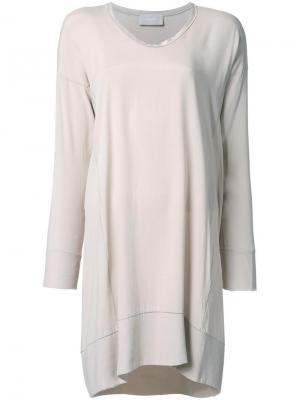 Платье-футболка Drumohr. Цвет: коричневый
