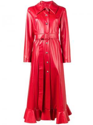 Пальто из искусственной кожи A.W.A.K.E.. Цвет: красный