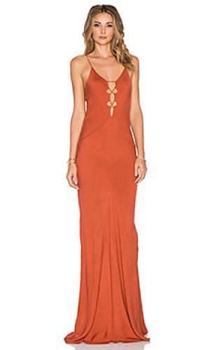 Макси платье brawa Acacia Swimwear. Цвет: оранжевый
