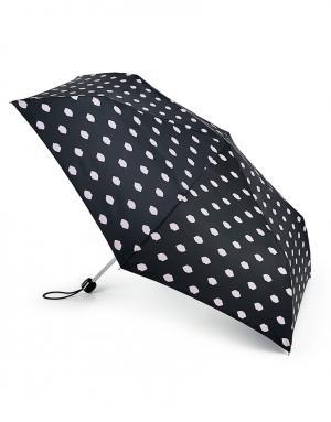 Зонт механический Губы  by Fulton Lulu Guinness. Цвет: черный