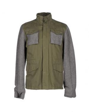 Куртка RA-RE. Цвет: зеленый-милитари