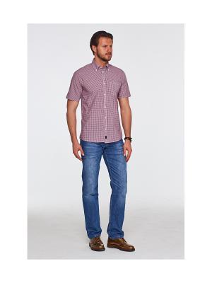 Рубашка Westrenger. Цвет: бордовый