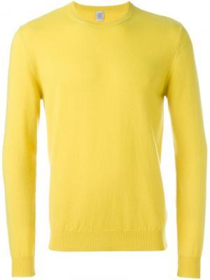 Свитер с круглым вырезом Eleventy. Цвет: жёлтый и оранжевый