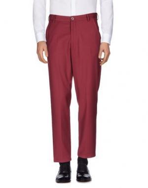 Повседневные брюки 26.7 TWENTYSIXSEVEN. Цвет: красно-коричневый