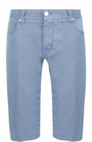Хлопковые шорты с карманами Sartoria Tramarossa. Цвет: синий