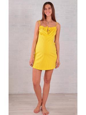 Сорочка EUROMAMA. Цвет: черный, светло-желтый