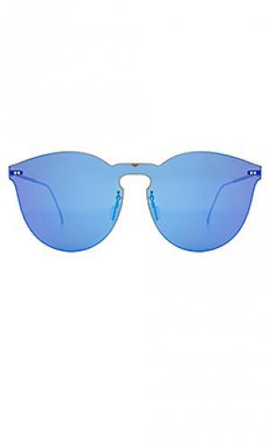Солнцезащитные очки leonard mask ii illesteva. Цвет: металлический золотой