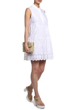 Платье DIANE VON FURSTENBERG. Цвет: белый