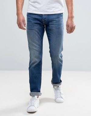 Edwin Синие узкие джинсы ED-71 Shuttle. Цвет: синий