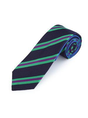 Галстук Grenadine Stripe Smalt Duchamp. Цвет: черный, зеленый, салатовый, сливовый
