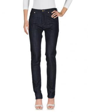 Джинсовые брюки FEMÌ. Цвет: синий