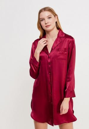 Рубашка домашняя Mia-Mia. Цвет: бордовый