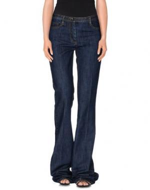 Джинсовые брюки MAURIZIO PECORARO. Цвет: синий