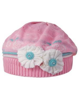 Берет Achti. Цвет: розовый, белый, бирюзовый