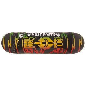 Дека для скейтборда  S6 Rhm Shock V2 Rasta 31.6 x 8 (20.3 см) Darkstar. Цвет: черный,желтый,красный,зеленый