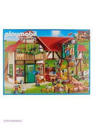 Ферма: Большая ферма Playmobil. Цвет: коричневый, красный