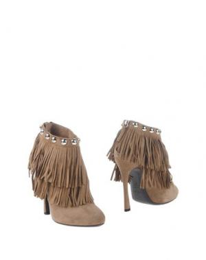 Полусапоги и высокие ботинки GIANMARCO LORENZI. Цвет: хаки