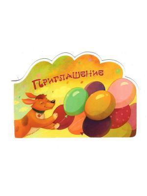 Комплект приглашений Собака Даринчи. Цвет: желтый