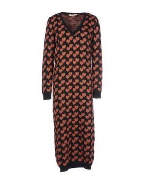Платье длиной 3/4 PAOLO CASALINI. Цвет: черный