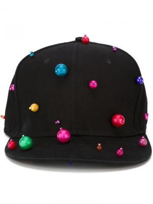 Декорированная  бейсболка Piers Atkinson. Цвет: чёрный