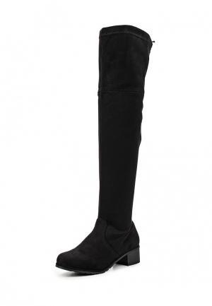 Ботфорты Sweet Shoes. Цвет: черный