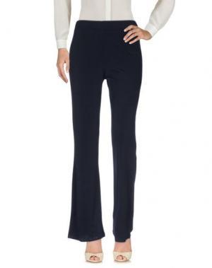 Повседневные брюки LIZALU'. Цвет: темно-синий