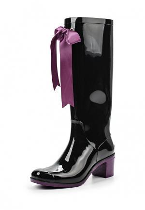 Резиновые сапоги Boomboots. Цвет: черный
