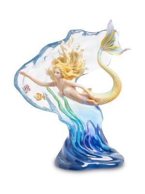Статуэтка Русалка Veronese. Цвет: белый, синий