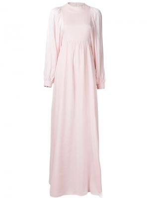 Вечернее платье со сборками Vika Gazinskaya. Цвет: розовый и фиолетовый